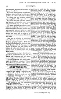 1867 Annual General Conference Minutes [from The True Latter Day Saints' Herald volume 11 pages 138-144]