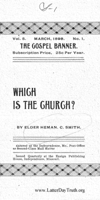 Which Is The Church? [The Gospel Banner Vol. 5 No. 1]