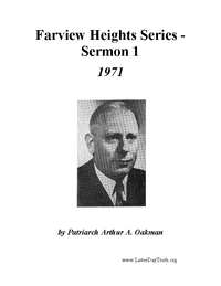 Farview Heights Series [Audio Sermon 1]