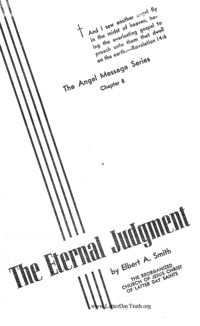 Eternal Judgment [The Angel Message Series Chapter 8]
