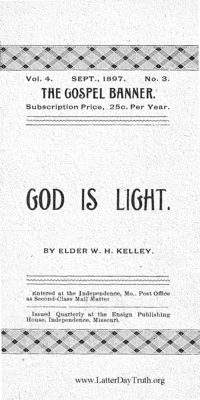 God Is Light [The Gospel Banner vol. 4 no. 3], 1897