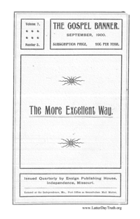 The More Excellent Way [The Gospel Banner vol. 7 no. 3], 1900