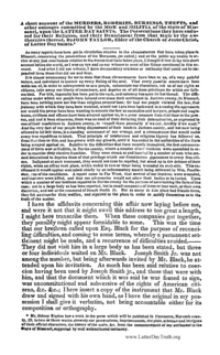 A Short Account Of The Murders, Roberies, Burnings, Thefts, And Other Outrages Committed By The Mob And Militia Of The State Of Missouri, Upon The Latter Day Saints. The Persecutions They Have Endured For Their Religion, And Their Banishment From That State By The Authorities Thereof. By John Taylor, Elder Of The Church Of Jesus Christ, Of Latter Day Saints., 1839