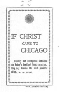 If Christ Came To Chicago, n.d. [1900]