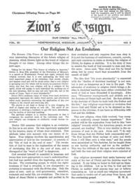 Our Religion Not An Evolution [from Zion's Ensign vol. 30], 1919