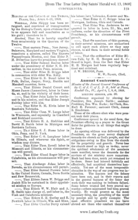 1868 Annual General Conference Minutes
