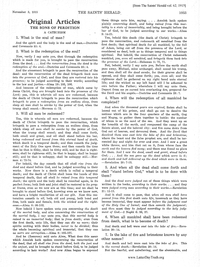 The Sons Of Perdition A Catechism [from The Saints' Herald vol. 62], 1915