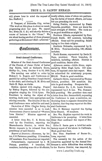 1869 Semi-Annual General Conference Minutes [from The True Latter Day Saints' Herald vol. 16 pages 280-283]