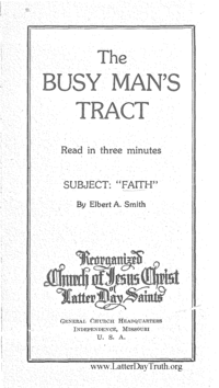 Faith [The Busy Man's Tract]