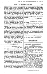 1870 Semi-Annual General Conference Minutes [from The True Latter Day Saints' Herald vol. 17 pages 631-637]