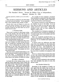 The Standard Divine: Sermon By Hubert Case At Independence, Missouri, October 31, 1921 [from Zion's Ensign vol. 33], 1922