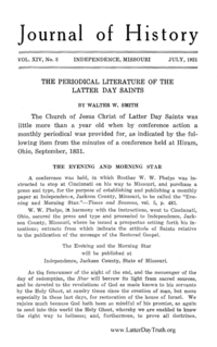 The Periodical Literature Of The Latter Day Saints [from Journal Of History vol. 14], 1921