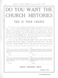 Supplement To Saints' Herald, Lamoni, Iowa, May 26, 1909