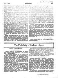 The Periodicity Of Israelitish History [from Zion's Ensign vol. 31], 1920