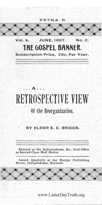 A Retrospective View Of The Reorganization [The Gospel Banner vol. 4 no. 2 extra B], 1897