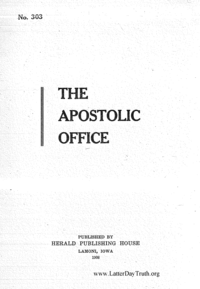 No. 303 The Apostolic Office, 1908 (PDF)