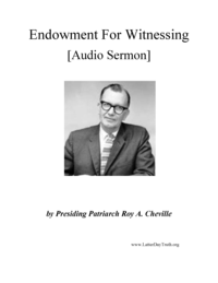 Endowment For Witnessing [Audio Sermon], n.d. (mp3)