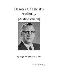 Bearers Of Christ's Authority [Audio Sermon], n.d. (mp3)