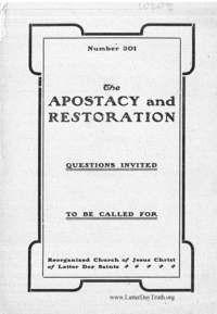 No. 301 The Apostacy And The Restoration, n.d. [1916] (PDF)