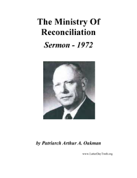 The Ministry Of Reconciliation [Audio  Sermon], 1972 (mp3)