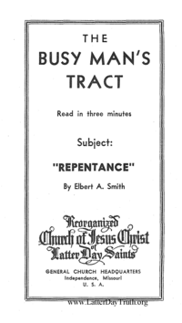 Repentance [The Busy Man's Tract], n.d. (PDF)