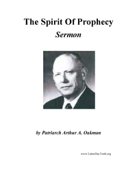 The Spirit Of Prophecy [Audio Sermon], n.d. (mp3)