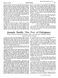 Joseph Smith, The Foe Of Polygamy [from Zion's Ensign vol. 32], 1921 (PDF)