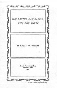 No. 5 - The Latter Day Saints; Who Are They, 1903 (PDF)