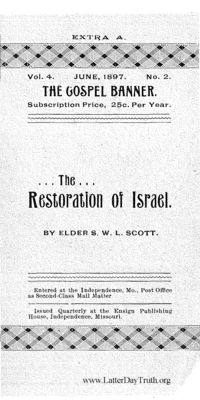 The Restoration Of Israel [The Gospel Banner vol. 4 no. 2 extra A], 1897
