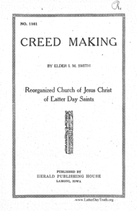 Creed Making No. 1161 [Tracts By Numbers], n.d. [1922] (PDF)