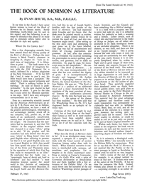 The Book Of Mormon As Literature [from The Saints' Herald vol. 90], 1943 (PDF)