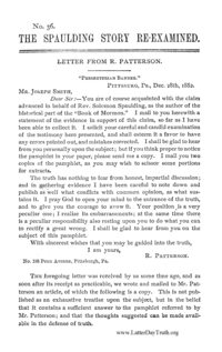 The Spaulding Story Re-examined No. 36 [Tracts By Numbers], n.d. [1883] (PDF)