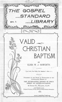 Valid Christian Baptism [The Gospel Standard Library No. 1], 1902 (PDF)