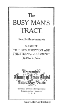 The Resurrection And The Eternal Judgment [The Busy Man's Tract], n.d. (PDF)