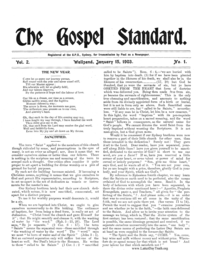 The Gospel Standard, vol. 2 (1903)