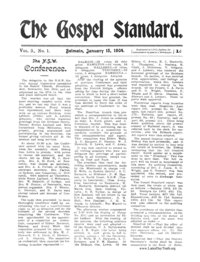 The Gospel Standard, vol. 3 (1904)