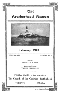 The Brotherhood Beacon, vol. 1, 1923 (PDF)