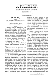 Sermon [Independent Patriot Supplement], 1888 (PDF)