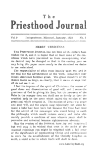 The Priesthood Journal - volume 9, 1923 (PDF)