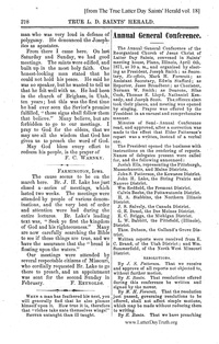 1871 Annual General Conference Minutes [from The True Latter Day Saints' Herald vol. 18], (PDF)