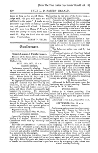 1871 Semi-Annual General Conference Minutes [from The True Latter Day Saints' Herald vol. 18], (PDF)
