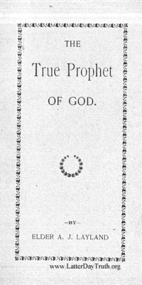 True Prophet Of God, n.d. (PDF)