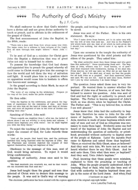 The Authority Of God's Ministry [from The Saints' Herald vol. 80], 1933 (PDF)